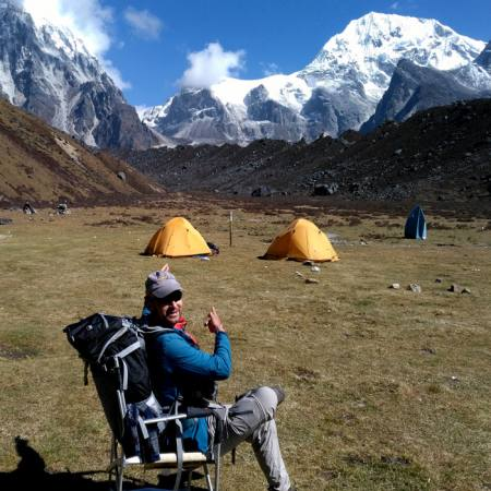 View from Kanchenjunga South Base Camp