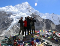 group picture at Everest Base Camp/ Short Everest Base Camp Trek