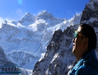 A Trekker enjoying Mt. Kanchenjunga View/ Kanchenjunga North Base Camp Trek