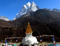 Stupa at Dingboche Village/ Express Everest Base Camp Trek