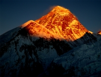 Sun set View On Mt.Everest From Kalapatthar