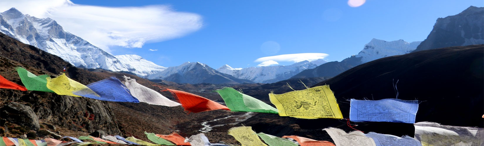 View from Dingboche Stupa Day 5