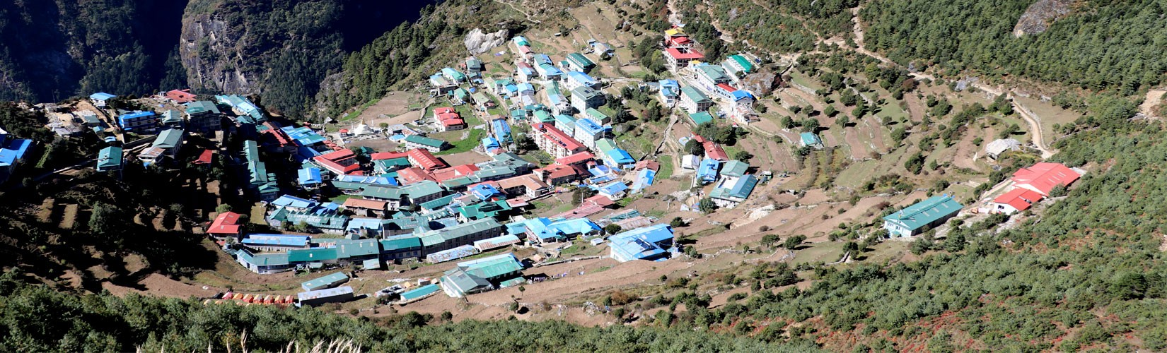 Namche Bazaar in September