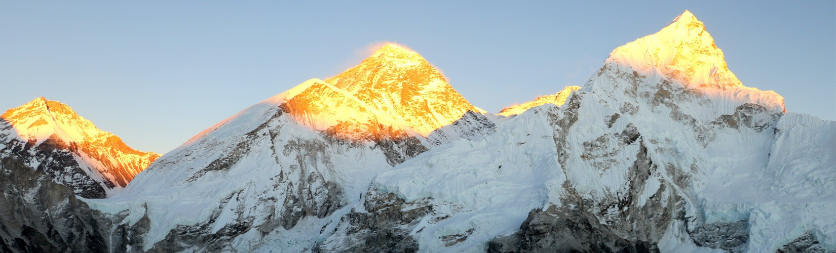 Sunset view on Everest from Kalapatthar