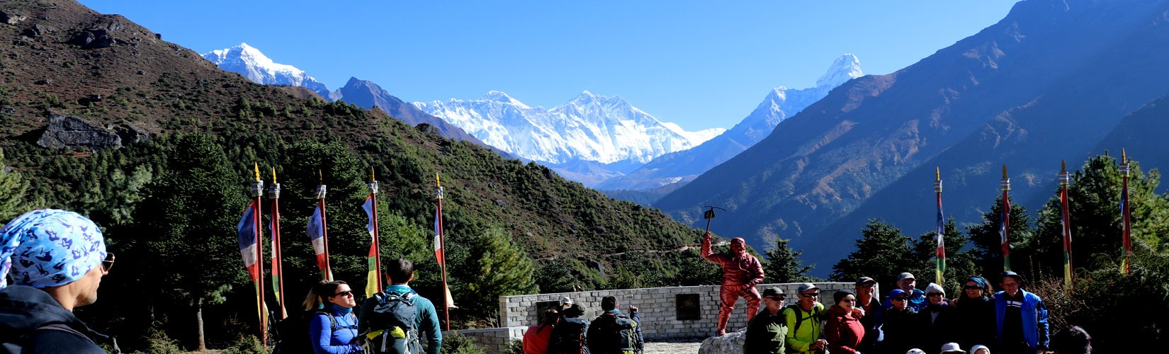 View from Everest National Park Namche Bazaar