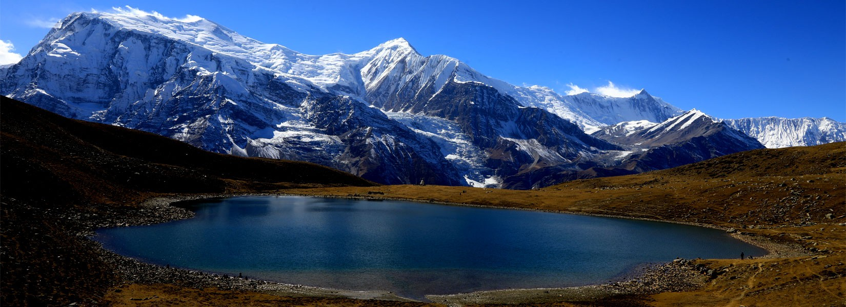 Ice Lake in Annapurna Circuit Trek