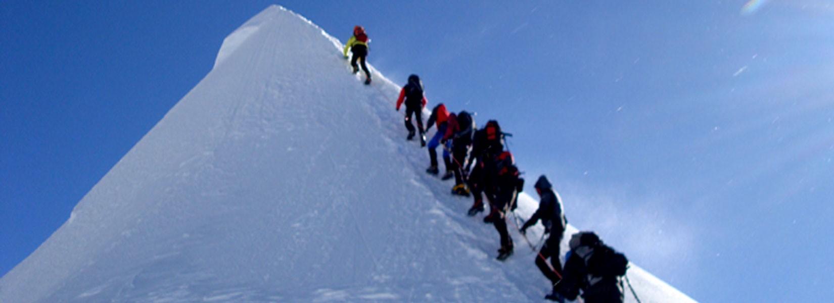 Climbing Island Peak in October