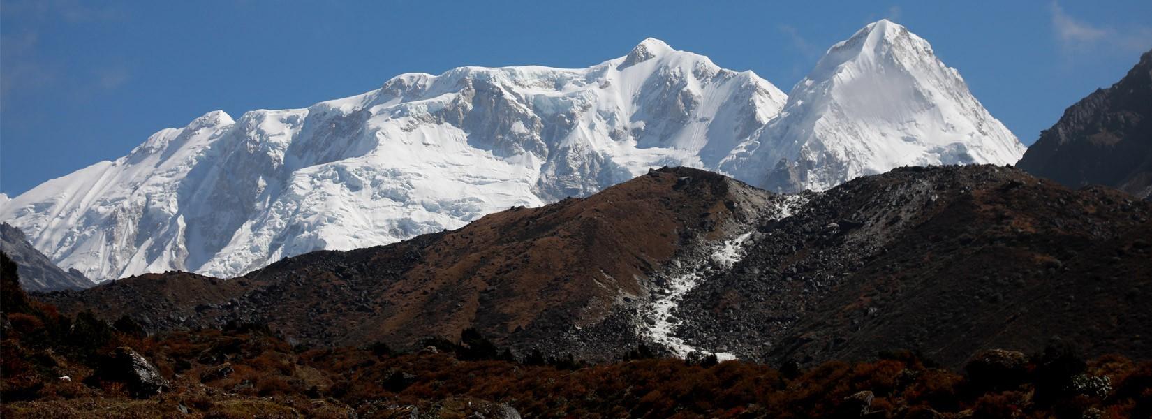 Mt. Kanchenjunga range from Ramche