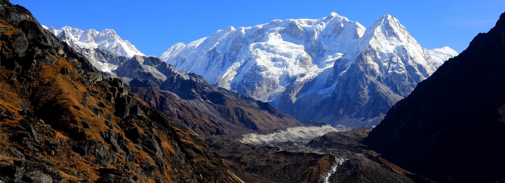 Mt. Kanchenjunga and Yalung Kang glacier