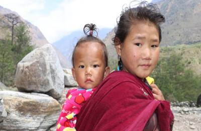 Chepang children in Nepal