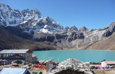 Gokyo village and lake