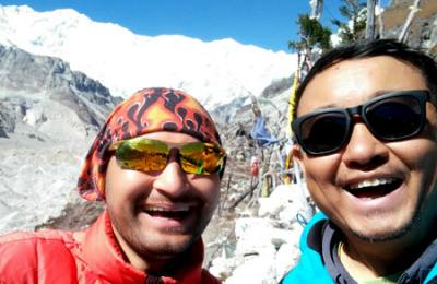 Selfie at Kanchenjunga South Base Camp