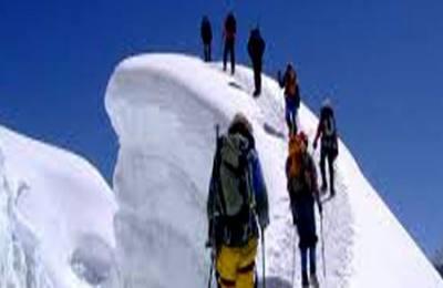 Summiting Mera Peak