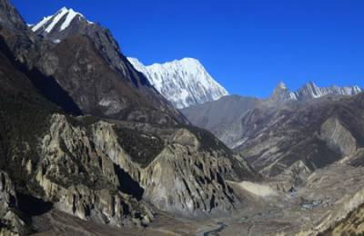 Manang Valley view from Ice Lake