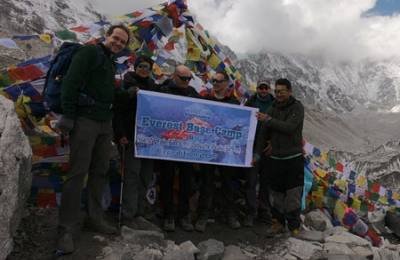 Everest base camp April