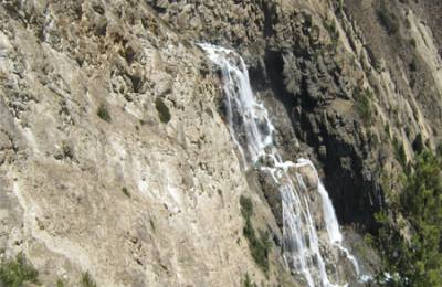 Nepal highest waterfall Shey Phoksundo waterfall